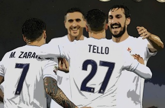 tello and team vs lazio comic